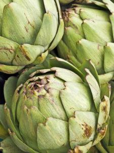 artichoke at a farmer market